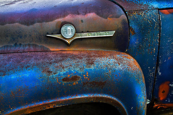 Vintage Hood Ornaments Photograph - F-100 Ford by Debra and Dave Vanderlaan