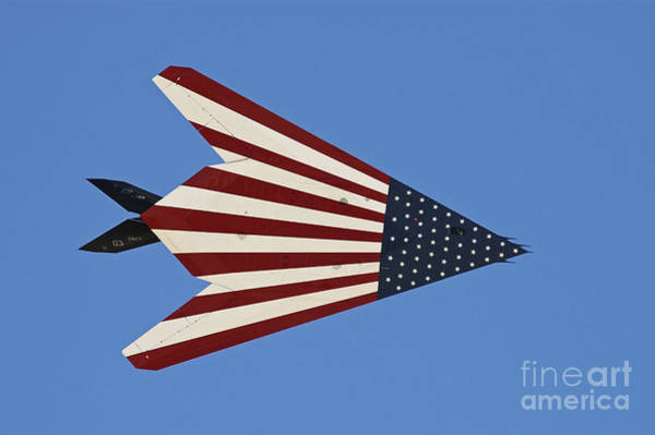 Flying The Flag Wall Art - Photograph - F-117 Nighthawk Flying Over California by Phil Wallick