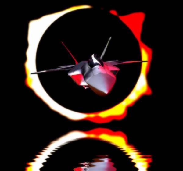 Eclipse Mixed Media - F-22  Sunfire 2 by Alvaro Ruiz Bojorges