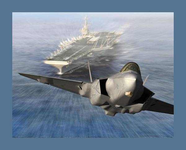 Wall Art - Photograph - F-35 Catapult Launch From Us Super Carrier by L Brown