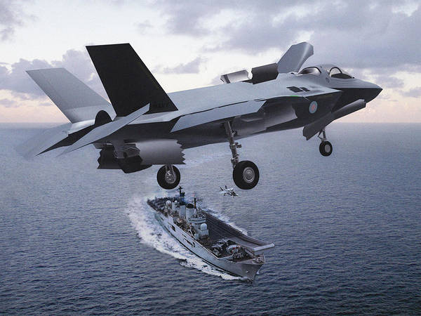 Mission Accomplished Wall Art - Photograph - F 35 Strike Fighter On Final Approach To The Us Marine Corps Assault Carrier by L Brown