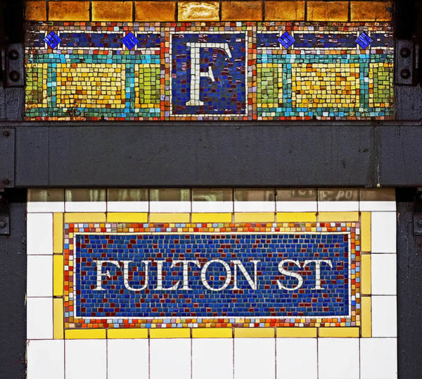 Photograph - F Is For Fulton Street by Rona Black