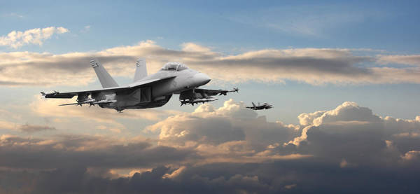 Jet Fighter Photograph - F18 - Super Hornet by Pat Speirs