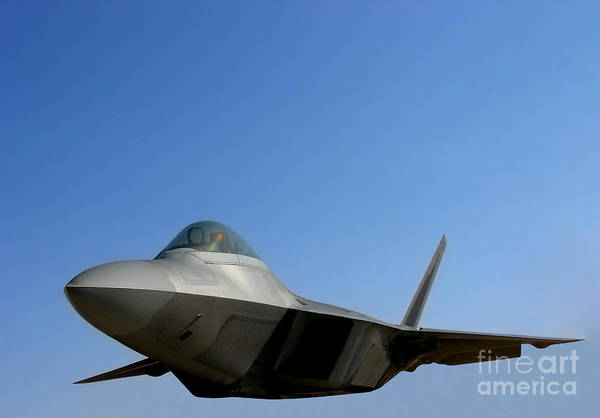 Fighter Jets Photograph - F22 Raptor  by Olivier Le Queinec