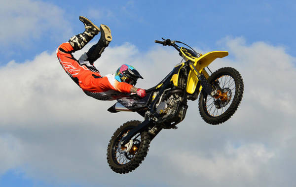 Dirt Bike Photograph - Hold On by David Lee Thompson