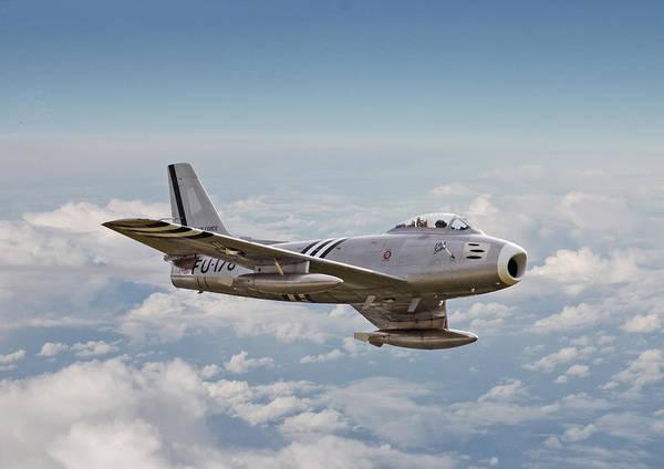 Warplane Photograph - F86 Sabre by Pat Speirs