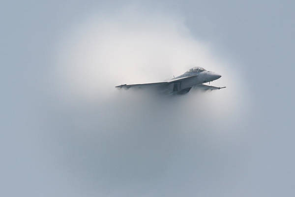 Photograph - Fa 18 Super Hornet The Cloud Maker 2 by Donna Corless