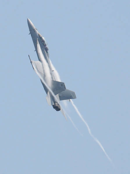 Photograph - Fa 18 Super Hornet Upward Climb 6 Vapor Vert by Donna Corless