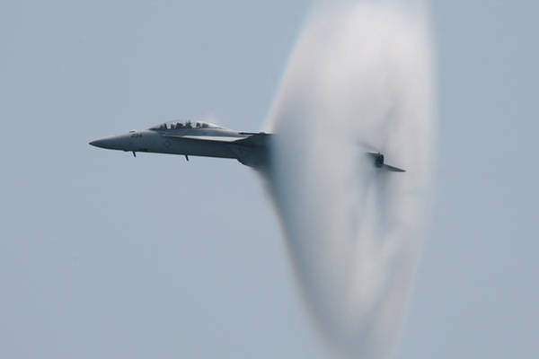 Photograph - Fa 18 Super Hornet Vapor Circle 2 by Donna Corless