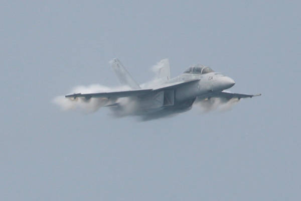 Photograph - Fa 18 Super Hornet Vapor Front by Donna Corless