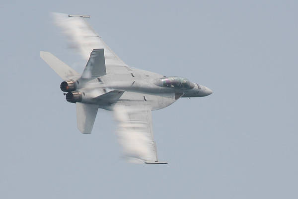 Photograph - Fa 18 Super Hornet Wing Vapor by Donna Corless