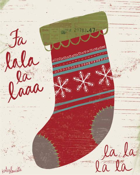 Winter Holidays Painting - Fa La La La La by Katie Doucette