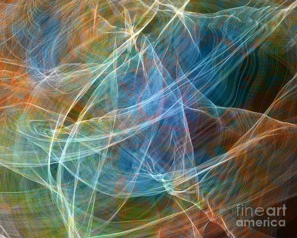 Photograph - Fabric Nebula by Gerald Grow
