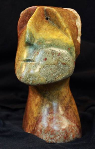 Stone Carving Wall Art - Sculpture - Fabulas The Thinker  by Mark M  Mellon