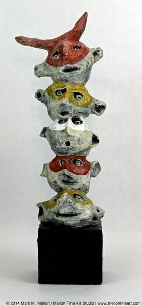 Outsider Wall Art - Mixed Media - Fabulas Totem  by Mark M  Mellon