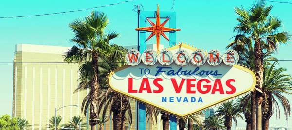 Las Vegas Photograph - Fabulous Las Vegas Sign On The Strip by Franckreporter