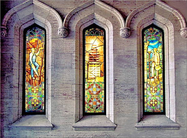 Photograph - Fabulous Pigott Building  Stained Windows  by Danielle  Parent
