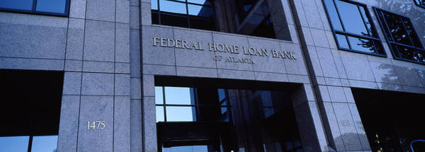 Fulton County Photograph - Facade Of A Bank Building, Federal Home by Panoramic Images