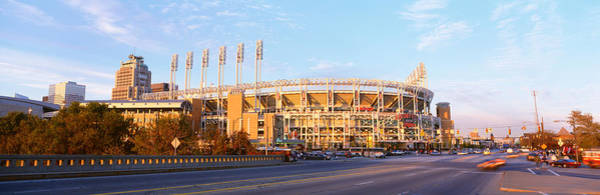 Cleveland Scene Photograph - Facade Of A Baseball Stadium, Jacobs by Panoramic Images