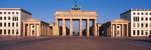 Brandenburg Gate Photograph - Facade Of A Building, Brandenburg Gate by Panoramic Images