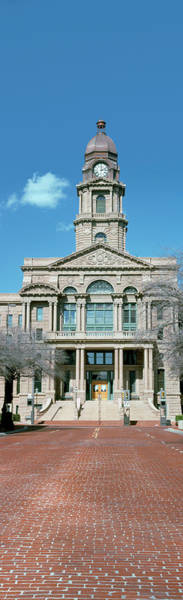 Courthouse Towers Wall Art - Photograph - Facade Of A Courthouse, Tarrant County by Panoramic Images