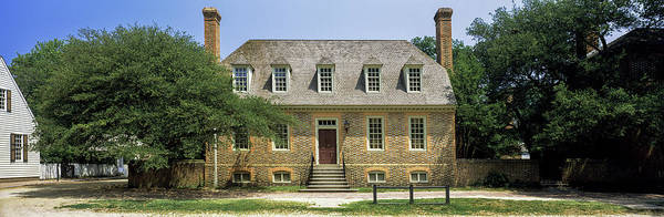 Colonial Williamsburg Photograph - Facade Of A House, Colonial by Panoramic Images