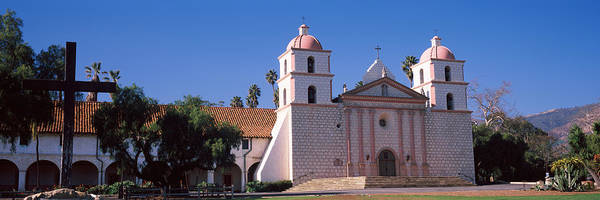Mission Santa Barbara Photograph - Facade Of A Mission, Mission Santa by Panoramic Images