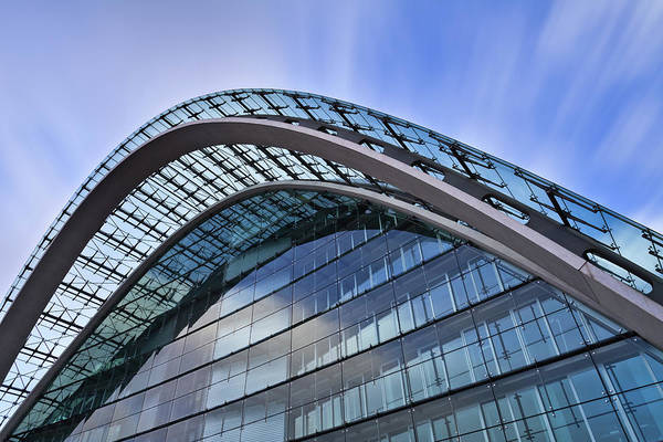 Photograph - Facade Of An Office Building - Modern by Mf-guddyx