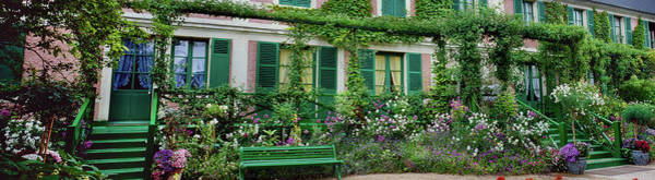 Giverny Photograph - Facade Of Claude Monets House, Giverny by Panoramic Images