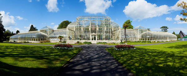Glasshouse Photograph - Facade Of Curvilinear Glass House by Panoramic Images