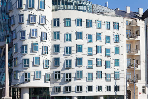 Wall Art - Photograph - Facade Of Dancing House Or Ginger by Panoramic Images