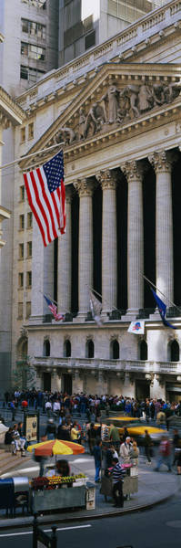 Colonnade Photograph - Facade Of New York Stock Exchange by Panoramic Images