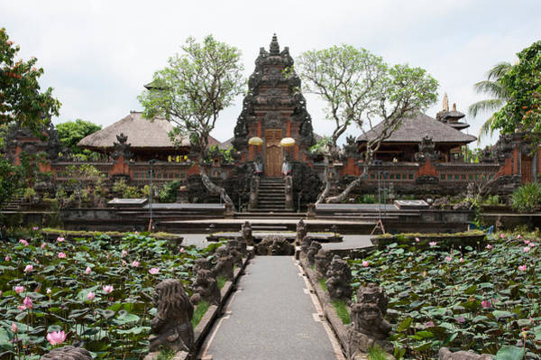 Indonesian Culture Photograph - Facade Of The Pura Taman Saraswati by Panoramic Images
