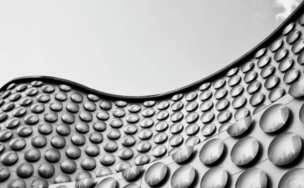 Wall Art - Photograph - Facade Of Wall With Curve And Circle by Ian Ludwig