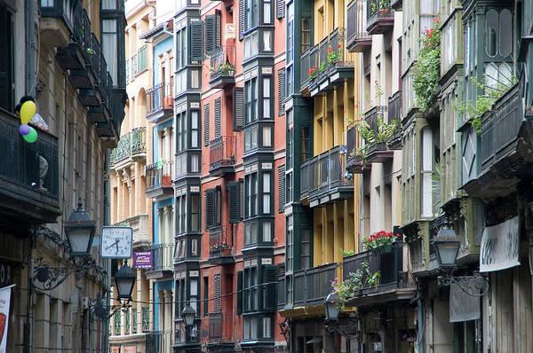 Bilbao Photograph - Facades Of Historic City Centre by Aldo Pavan