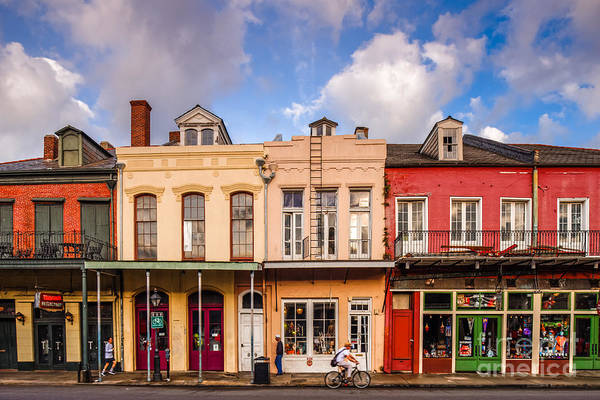 Cabildo Wall Art - Photograph - Facades Of Houses In The French Quarter Vieux Carre - New Orleans Louisiana by Silvio Ligutti