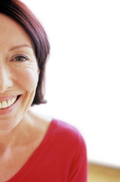 Forties Photograph - Face Of A Smiling Woman by Ian Hooton/science Photo Library