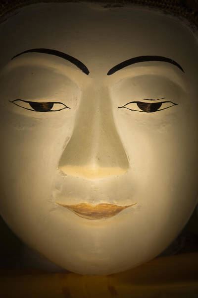 Photograph - Face Of Buddha by Maria Heyens