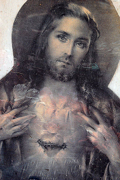Crucifixion Of Jesus Photograph - Face Of Jesus San Jose De Armijo Cemetery Albuquerque New Mexico 2010 by John Hanou