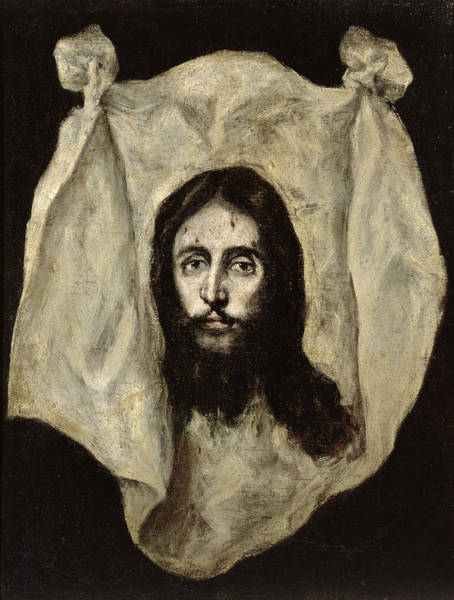 Wall Art - Painting - Face Of The Christ by El Greco