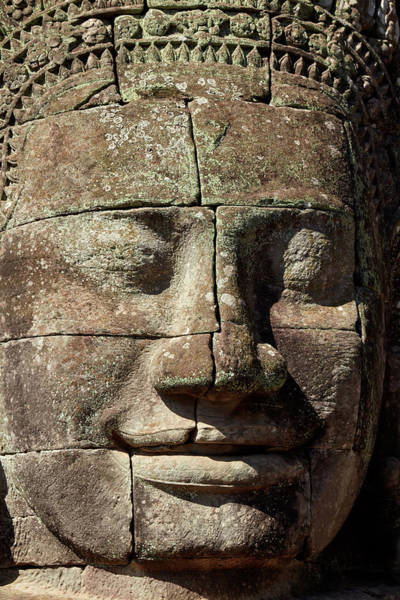 Wall Art - Photograph - Face Thought To Depict Bodhisattva by David Wall