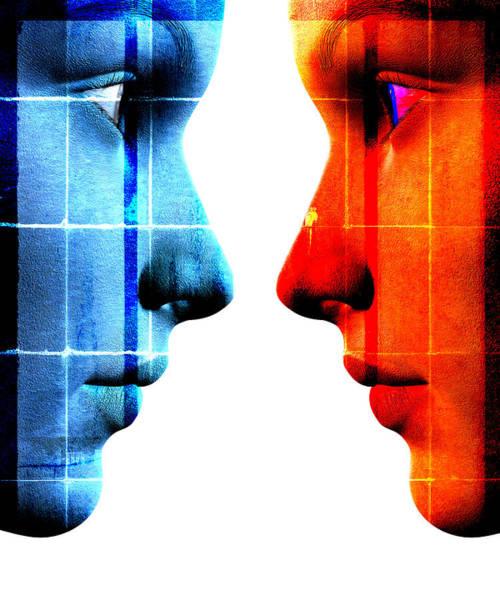 Wall Art - Digital Art - Face To Face by David Ridley