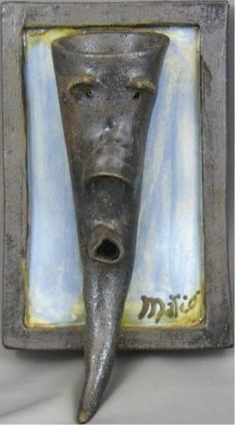 Sculpture - Faces #3 by Mario MJ Perron