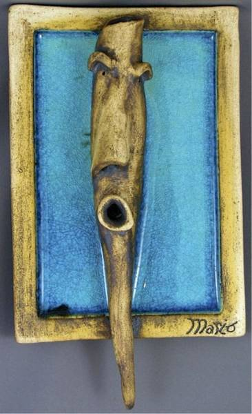 Sculpture - Faces #5 by Mario MJ Perron