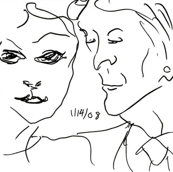 Drawing - Faces II by Rachel Scott