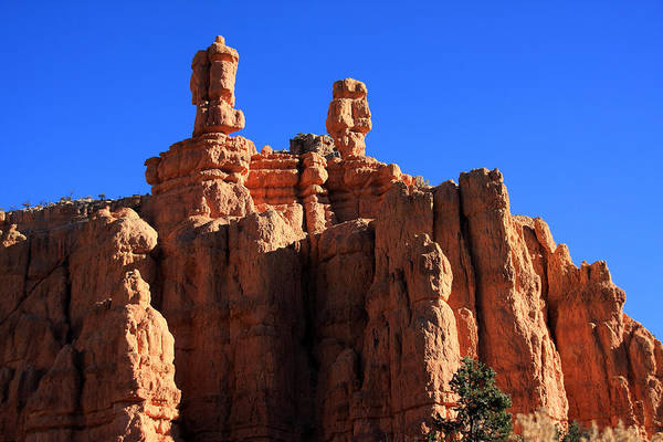 Photograph - Faces In The Red Rock - New Mexico by Aidan Moran