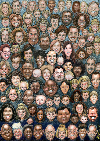 Digital Art - Faces Of Humanity by Kevin Middleton