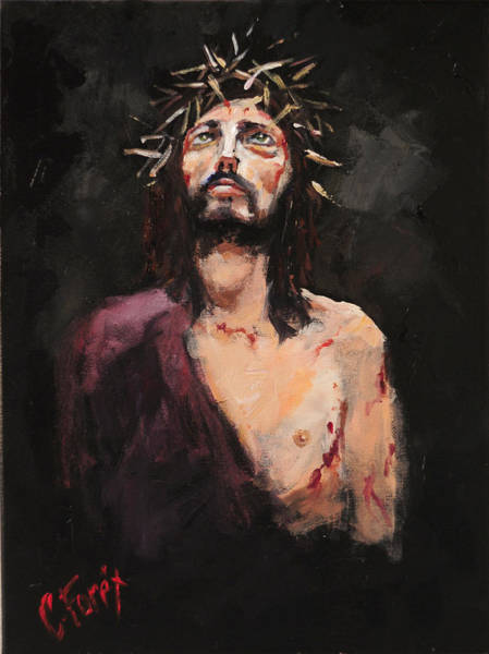 Wall Art - Painting - Facing Pilate by Carole Foret