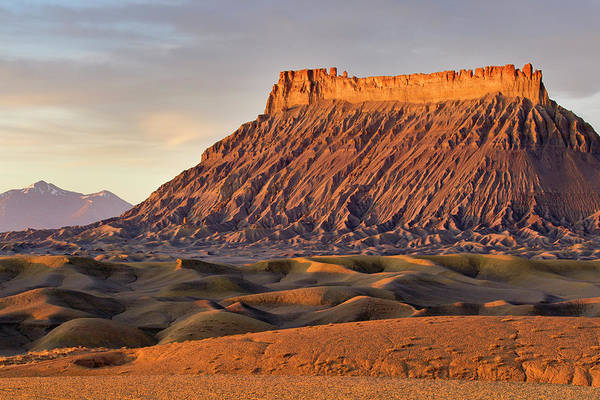 Badlands Photograph - Factory Butte And The Henry Mountains by Chuck Haney