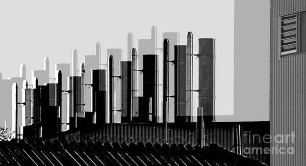 Photograph - Factory Chimneys by Eva-Maria Di Bella